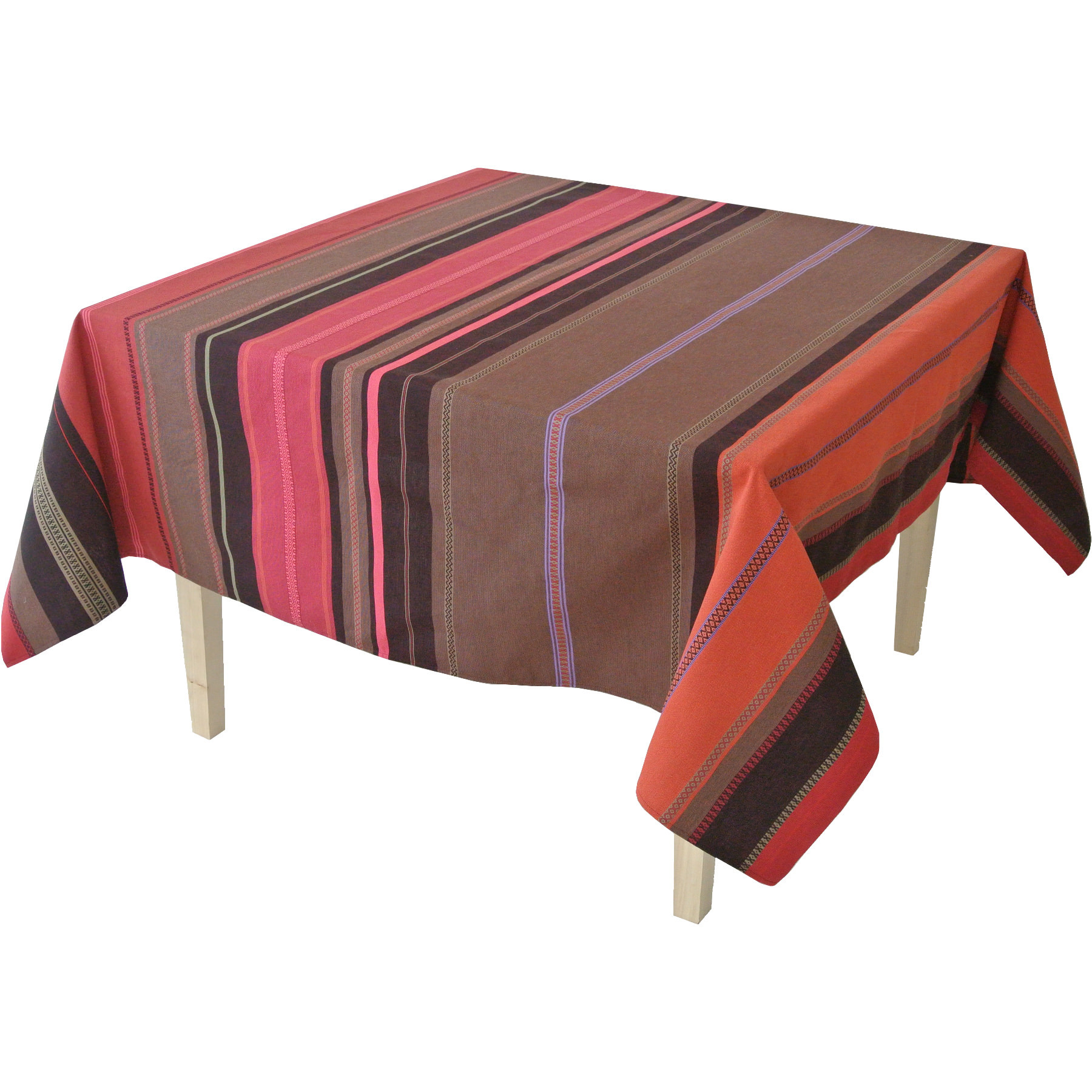 Nappe tsar tissu rouge - Nappe table exterieur ...