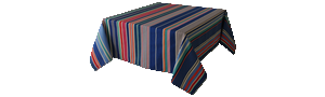 Nappe Rectangulaire Rayée Multicolore - Cabanon Roy